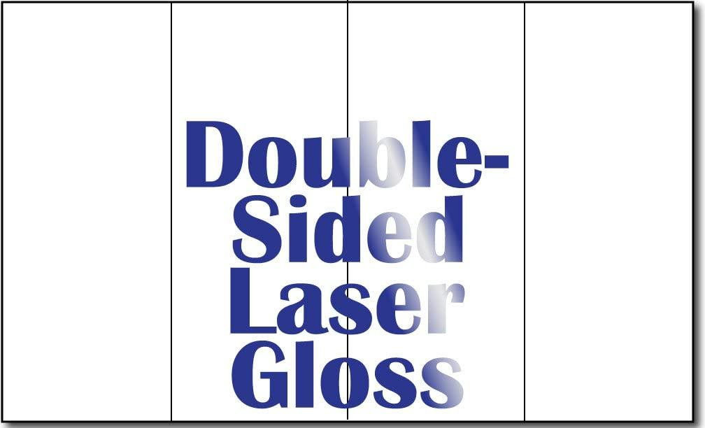 """8 1/2"""" x 14"""" 4 Panel 38lb Bond Laser Gloss Brochure Paper - 250 Brochures : Office Products"""