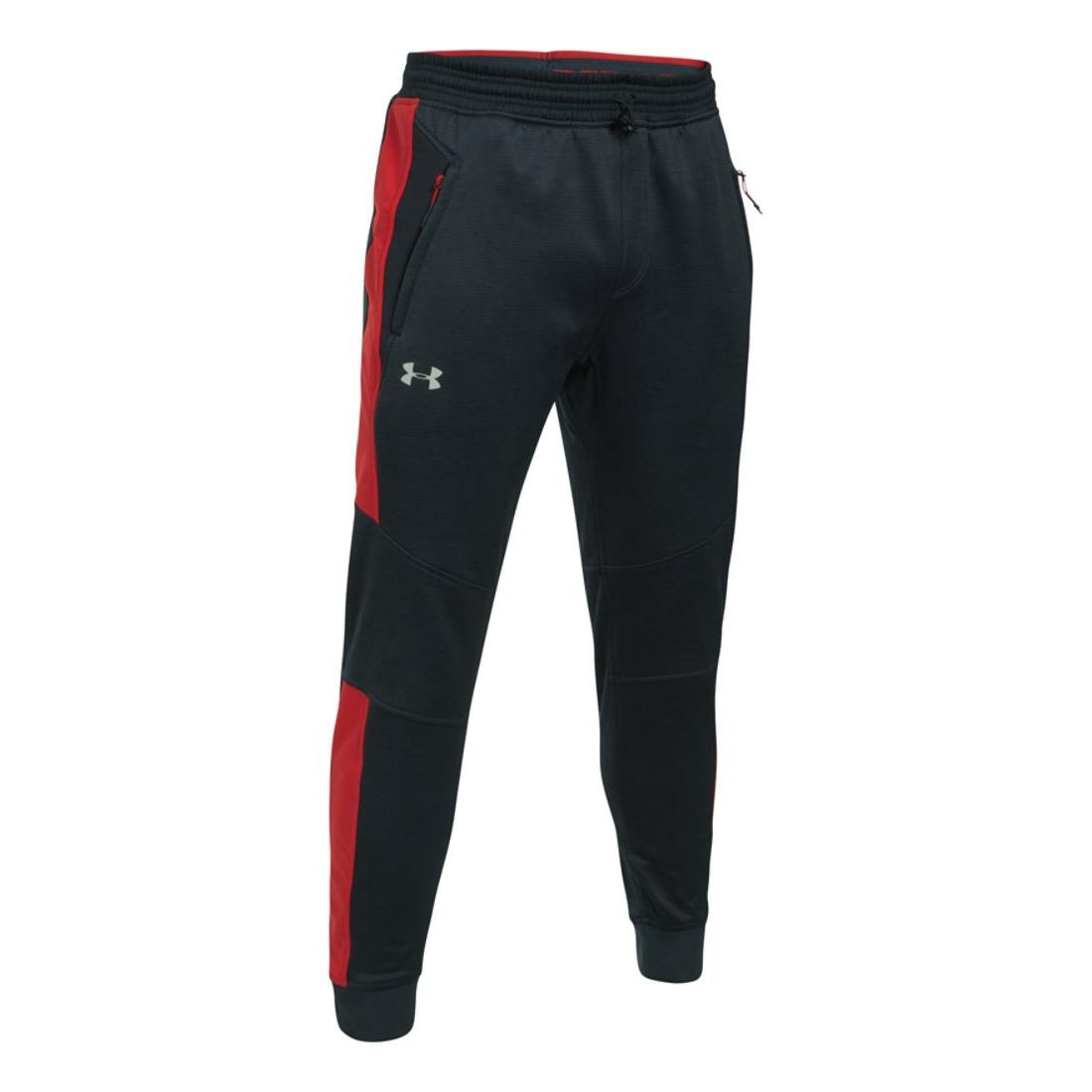 Under Armour Men's Coldgear Reactor Fleece Tapered Pants,Anthracite (016)/Silver, XXXX-Large by Under Armour