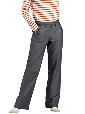 design intemporel b23cd 10aaf Mat de Misaine Pantalon Marin à Pont Femme: Amazon.fr ...
