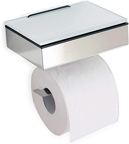 wyxhkj Porte-papier Support mural en acier inoxydable porte-serviettes en papier sous larmoire cintre rouleau pour fournitures de cuisine 2pcs Blanc