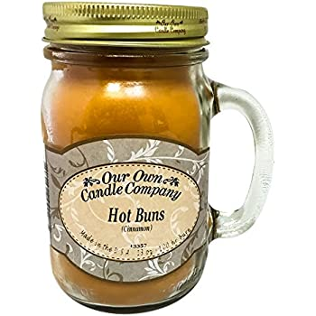 Cinnamon Hot Buns Scented 13 Ounce Mason Jar Candle By Our Own Candle Company