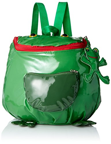 - Kidorable Toddler (7 inches x 10 inches) Green Frog, Fun Frog Zipper & 3D Embelishments Backpack