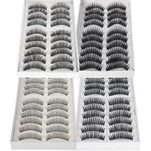 Imcolorful False Lashes Fake Eyelashes Eye Lashes Lash for Makeup Cosmetic (40pcs)