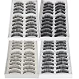 False Lashes Fake Eyelashes Eye Lashes Lash for Makeup Cosmetic 40 pairs (Mix)