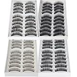 False Lashes Fake Eyelashes Eye Lashes Lash for Makeup Cosmetic 40 pairs (Mix)