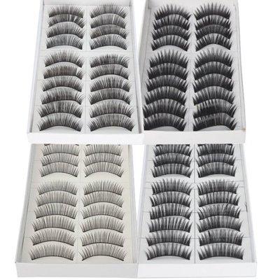 Imcolorful False Lashes Fake Eyelashes Eye Lashes Lash for Makeup Cosmetic (Eyelash Set)