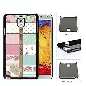 Paris C'est La Vie Variety Wallpaper Hard Plastic Snap On Cell Phone Case Samsung Galaxy Note 3 III N9000 N9002 N9005