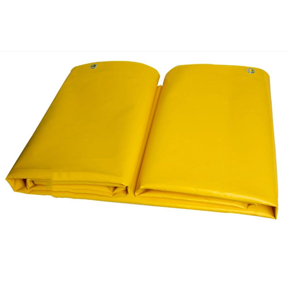 PENGFEI オーニング ターポリン 防水 キャノピー 厚い 倉庫 耐摩耗性 防塵の 高温、 厚さ0.47mm、 600g/m 2 (色 : イエロー いえろ゜, サイズ さいず : 3x4m) B07D597VQQ 3x4m|イエロー いえろ゜ イエロー いえろ゜ 3x4m