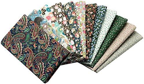 OPEN BUY 12 Ideales Telas Flores Liberty DE 20 X 25 cm para Manualidades, Costura, Scrapbooking, Patchwork, Vestidos Muñecos de Trapo, guirnaldas ...