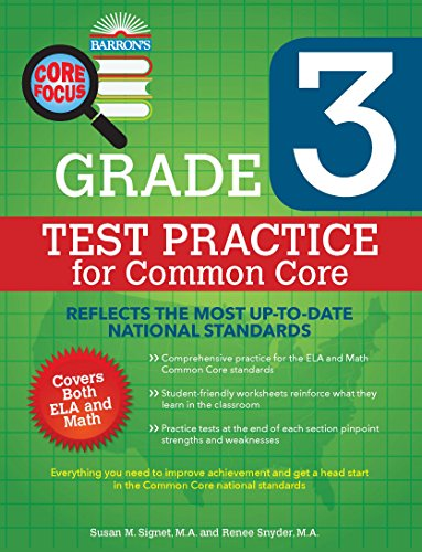 Amazon barrons core focus grade 3 test practice for common barrons core focus grade 3 test practice for common core by signet ma fandeluxe Images