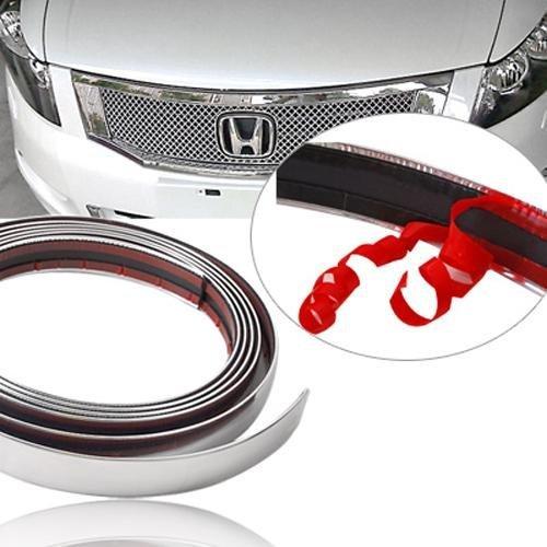 Argento cromato auto styling stampaggio striscia autoadesiva, 25 mm (2,5 cm) X15 M 25mm (2 5cm) X15M Diversity Wrap