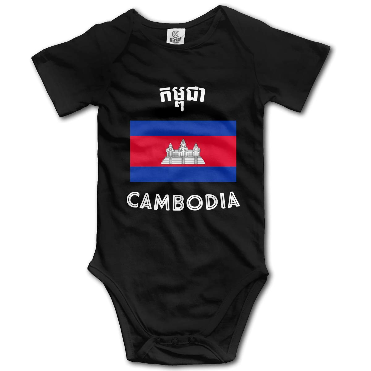 Cambodia Flag Kids Girl Boy 100/% Organic Cotton One-Piece Coverall 0-24 Months
