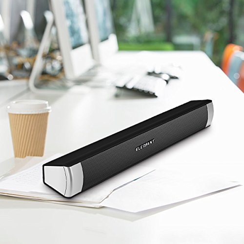 Sound Bar, ELEGIANT Bluetooth Computer Speakers Home Theater Portable Stereo Wired and Wireless Sound Bar Speaker for Computer Desktop Laptop PC Tablet iPhone iPad Samsung Projector by ELEGIANT (Image #5)