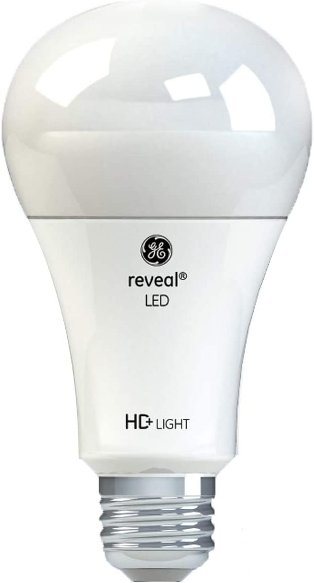 GE Lighting 46228 Refresh HD LED 3-Way 30/100-Watt Replacement A21 Light Bulb Medium Base, California Resident, Daylight