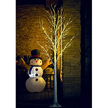 Fashionlite 8FT 128 LED Light Winter Birch Decorative Tree