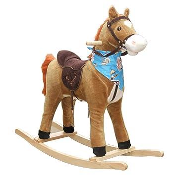 Cavallo Di Legno Giocattolo.Cavallo A Dondolo Lingzhigan Bambini Piccolo Cavallo Di
