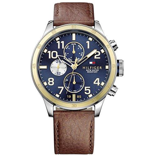 Tommy Hilfiger Herren-Armbanduhr Analog Quarz Leder 1791137
