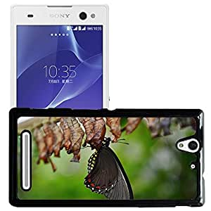 Print Motif Coque de protection Case Cover // M00156735 Mariposa del ala animal colorido // Sony Xperia C3 D2533/ C3 Dual D2502