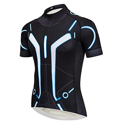 a50db74abc8 Men s Tron Cycling Jersey Set Bicycle Shirt and Bib Shorts Kit Sports  Trisuit Pink