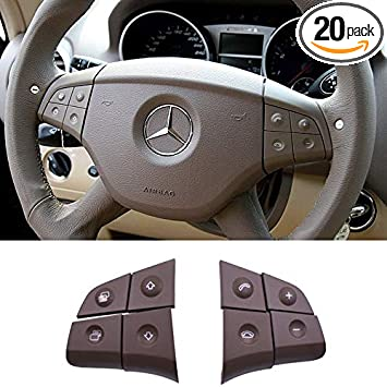 Amazon Com Ttcr Ii Steering Wheel Switch Control Buttons For Mercedes Benz W164 Ml320 Ml350 Ml400 Ml430 Ml500 Ml550 Ml63 2006 2007 2008 X164 Gl320 Gl350 Gl450 Gl550 Gl63 2007 2008 8 Pcs Brown Automotive