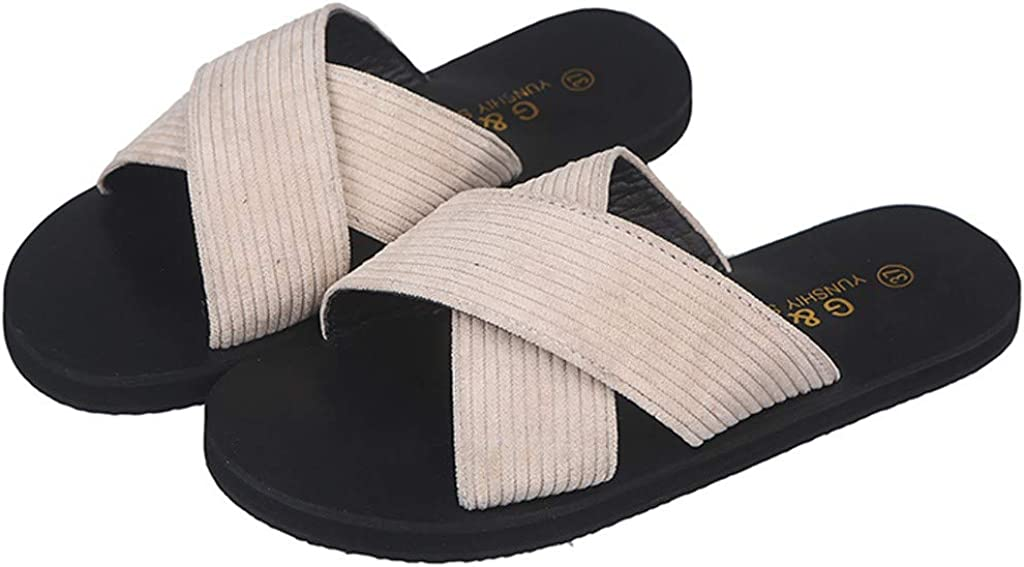 SCSAlgin Women Summer Retro Rome Sandals Extra Soft Footbed Home Beach Shoes