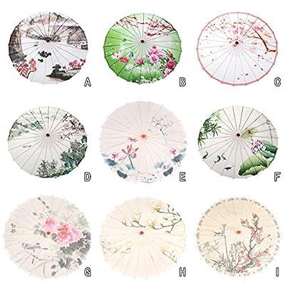Ktyssp Chinese Silk Umbrella Classical Style Decorative Umbrella Oil Paper Umbrel (A): Home & Kitchen