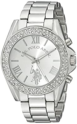 U.S. Polo Assn. Women's USC40035 Analog Display Analog Quartz Silver Watch