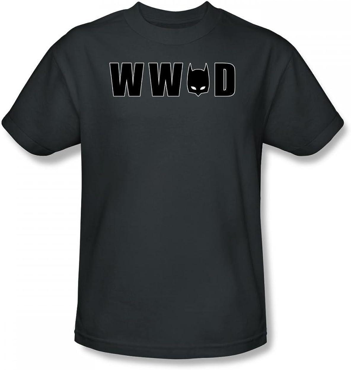 Batman Wwbd Mask Adult Work Shirt