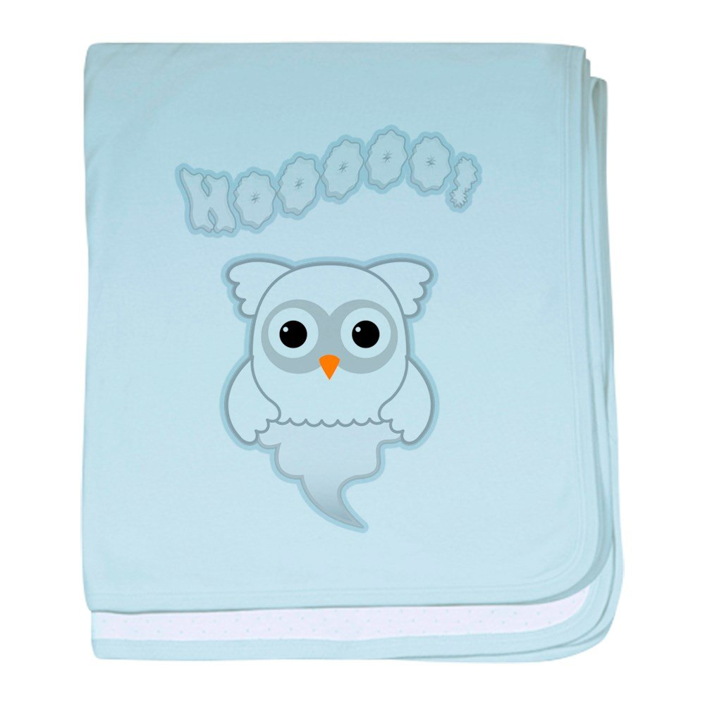 Truly Teague Baby Blanket Spooky Little Ghost Owl - Sky Blue