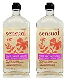 Bath and Body Works, Aromatherapy Sensual Black Currant Vanilla Body Wash & Foam Bath 10oz. per bottle (2 Pack)