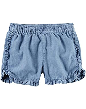 Baby Girls' Woven Twill Shorts