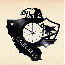 California Grizzly Bear Vinyl Wall Clock California Unique Gifts Living Room Home Decor