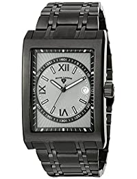 Swiss Legend Men's 40012-BB-108-RN Limousine Grey Textured Dial Black Ion-Plated Stainless Steel Watch