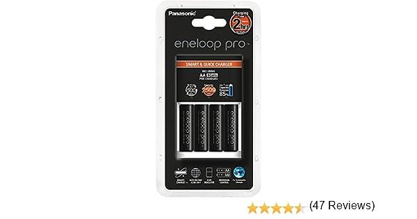 Panasonic Eneloop PRO - Cargador para pilas + 4 pilas AA