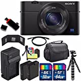 Sony Cyber-shot DSC-RX100M4 IV Digital Camera + Extra battery + Charger + 96GB Bundle 4 - International Version (No Warranty)