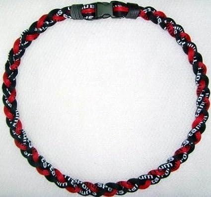 "Wholesale Lot of 10-20/"" Black Maroon Burgundy Titanium Sport Necklace Tornado"