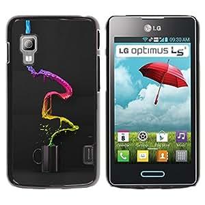 LECELL -- Funda protectora / Cubierta / Piel For LG Optimus L5 II Dual E455 E460 -- Abstract Color Coffee --
