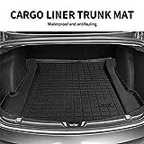 Model 3 Front Trunk Mat Front Storage Mat Cargo Liner Trunk Mat Car Rear Cargo Tray Storage Mat TPE Mat for Tesla Model 3 (A Set of TPE mat)