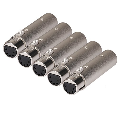 (Donner DMX DMX512 Terminator/Adapter 5-Pack 5 Pin Female XLR to 3 Pin Male XLR)