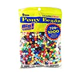 Darice Value Pack Pony Bead, 9mm, Opaque Multicolor, 1000-Pack