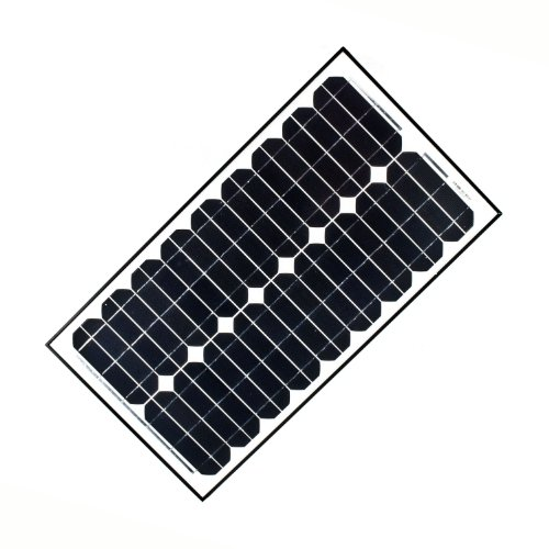 ALEKO SPU30W12V 30 Watt 12 Volt Monocrystalline Solar Panel for Gate Opener Pool Garden Driveway by ALEKO