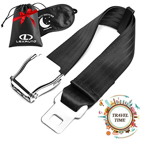 - LexAuto Airplane Seat Belt Extender set │ FAA Approved Seatbelt Extender 7-24