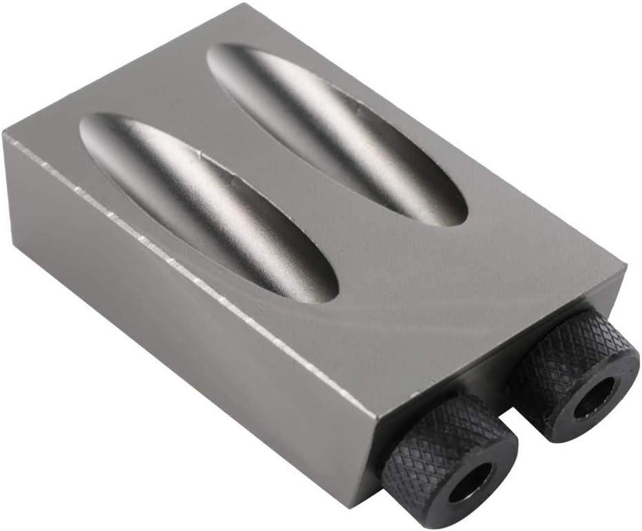7 Unids//set Juego de posicionador de orificios de carpinter/ía Gu/ía de orificio de bolsillo Kit de localizador de perforaci/ón Accesorios de plantilla