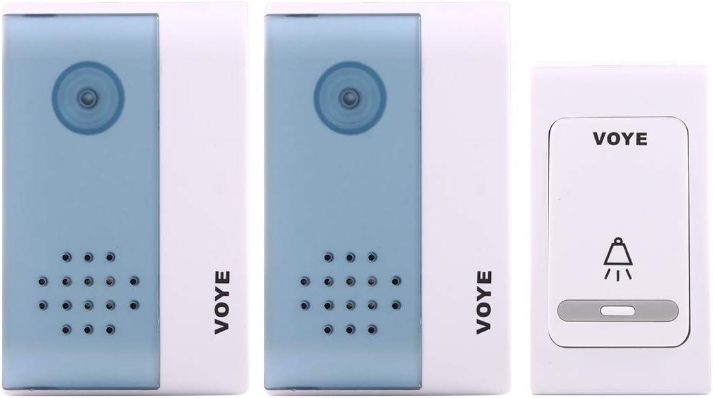M108 720P 6400mAh Smart WIFI Video Visual Doorbe VOYE V004B2 Timbre inalámbrico para casa con música inteligente con receptor dual, Distancia de control remoto: 120 m (aire libre) Phone Remote Monitor