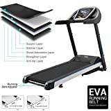 Moroly Folding Electric Treadmill Walking Running Machine Exercise Equipment Fitness Gym Home (US STOCK) (Silver Gray)