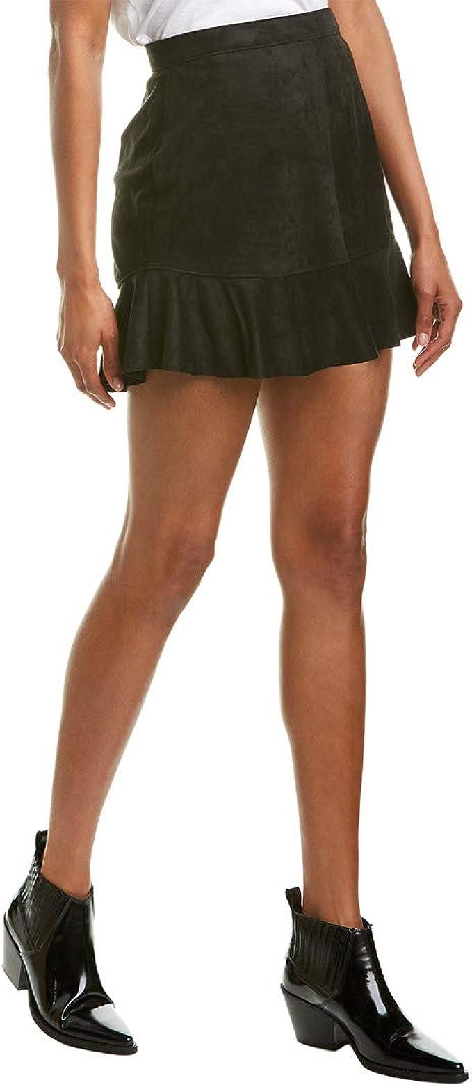 BB Dakota Womens Run This Town Faux Suede Skirt