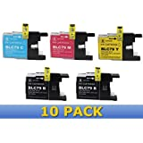 Generic  Brand NEW Compatible LC79 High Capacity Printer Ink Cartridge 10-Pack for BROTHER Printers MFC J6510DW J6710DW J6910DW LC-79 4x Black, 2x Cyan, Magenta, Yellow