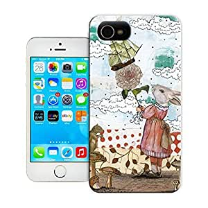 Unique Phone Case Rabbit Art Print Hard Cover for 4.7 inches iPhone 6 cases-buythecase
