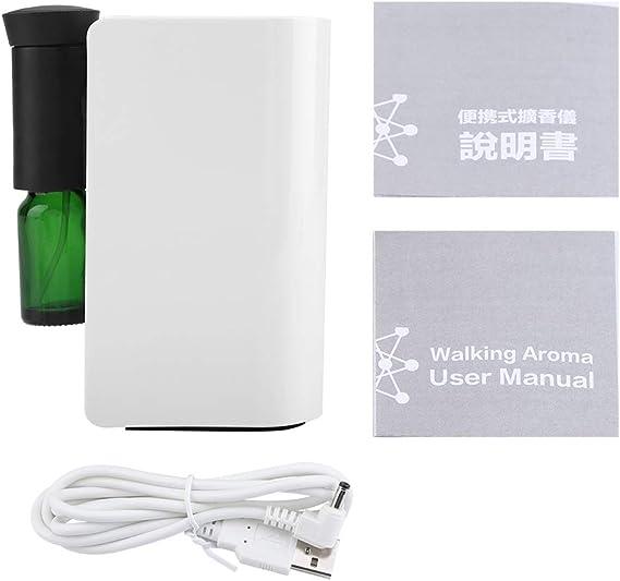 アロマディフューザー usb充電式 100ml 精油 エッセンシャルオイル用 自動アロマディスペンサー用 部屋 オフィス(ホワイト)