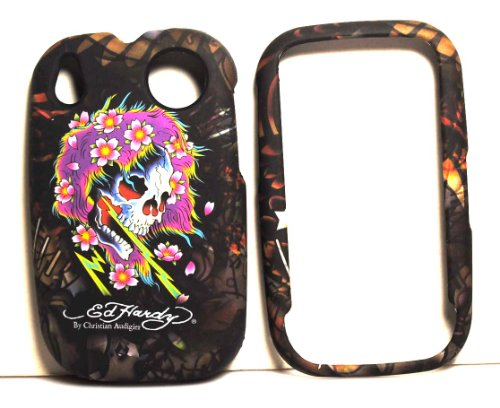 Audigier Bag (New Beautiful Ghost Purple Hair White Skull Ed Hardy By Christian Audigier Snap on Hard Skin Faceplate Cover Case for Palm Pre + Premium Lcd Screen Guard in Original Box + Microfiber Bag)